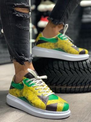 Knack Dijital Baskı Ayakkabı R044 Jamaika Renkli