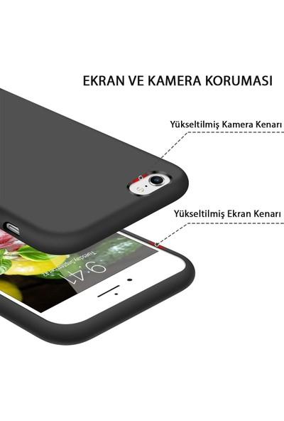 Mtncover Apple iPhone 6 / 6s Uyumlu Içi Kadife Lansman Liquid Silicone Kılıf Şok Emici Full Kasa Koruma Sağlayan Kılıf Kırmızı