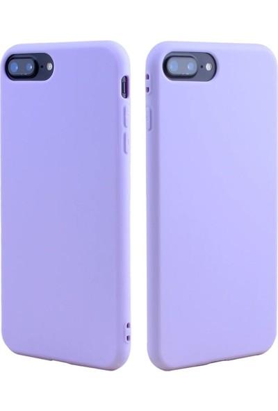 Mtncover Apple iPhone 7/8 Uyumlu Içi Kadife Lansman Liquid Silicone Şok Emici Tam Koruma Sağlayan Kılıf Lila