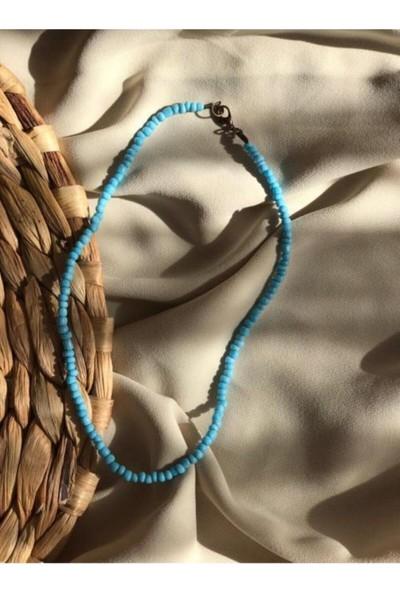 Cosibella Kadın Mavi Renk Boncuk Kolye