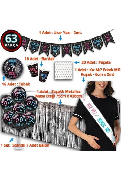 Süsle Bebek Parti Cinsiyet Belirleme Parti Seti - 16 Kişilik x 63 Parça
