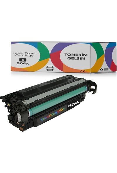 Tonerimgelsin Hp 504A-CE250A Siyah Muadil Toner-Hp Color Laserjet CM3530