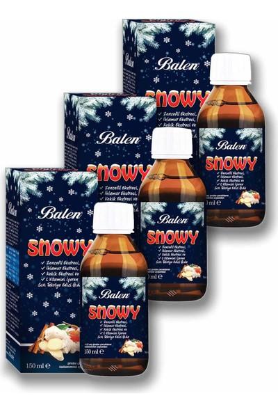 Balen Snowy - Zencefil Ekstresi, Ihlamur Ekstresi Şurup 3 x 150ML