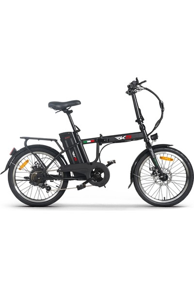 Rks DC15 Elektrikli Şarjlı Lityum Bataryalı Akülü Katlanabilir Bisiklet Siyah