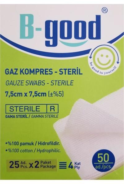 B-Good Steril Gaz Kompres Spanç 7.5x7.5 50 Adet