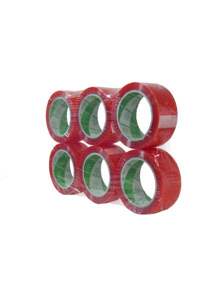 Atlas Bant Kırmızı Renkli Hotmelt Koli Bandı 45 mm 100 mt