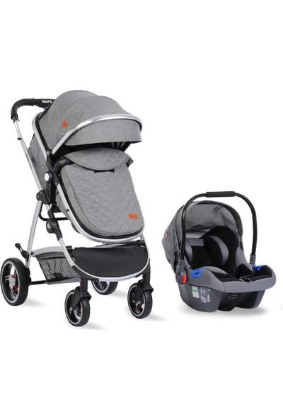 Kraft Glow Travel Sistem Bebek Arabası Açık Gri