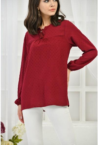 Bukle Moda Şile Bezi Bluz