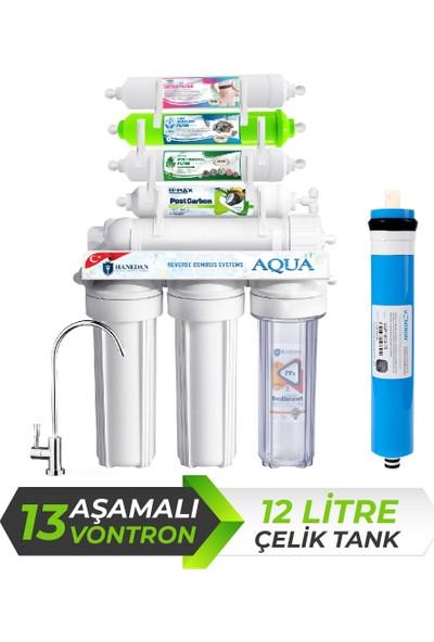 Hanedan Aqua 13 Aşama 12 L Çelik Tanklı Vontron Membranlı Su Arıtma CIHAZI-243