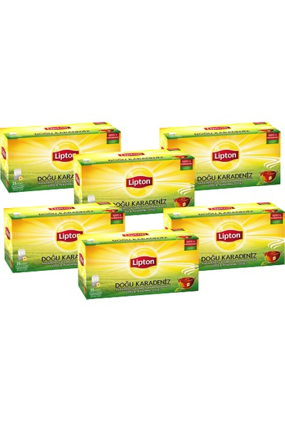 Lipton Doğu Karadeniz Poşet Çay Seti 6'lı Set