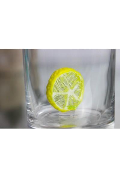 Adamodart Portakal & Limon Figürlü Özel Seri Kahve Yanı 2'li Set