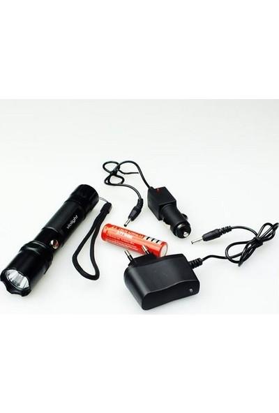 Violight Şarjlı El Feneri Suya Dayanıklı Power LED Vl-29