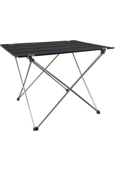 Kervancı Katlanır Çantalı Kamp Masası-Siyah
