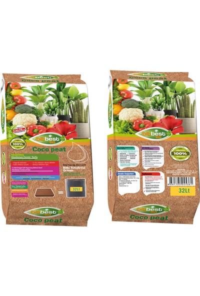 Bitbest Cocopeat 32 lt Sıkıştırılmış Hindistan Cevizi Torfu Bitki Toprağı Alternatifi