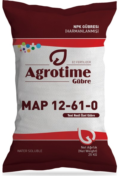 Agrotime Map 12-61-0 Gübre 25 kg