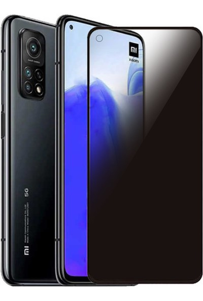 Bufalo Xiaomi Mi 10T Hayalet Privacy Gizli Cam Ekran Koruyucu Siyah