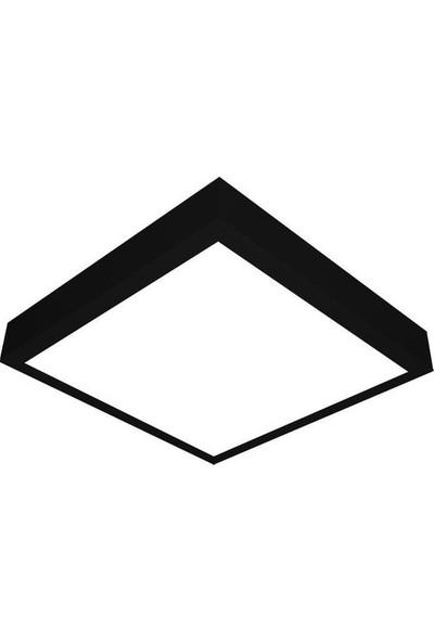 Aral 24 Watt Sıva Üstü Kare Siyah Kasa Beyaz Işık LED Panel Armatür