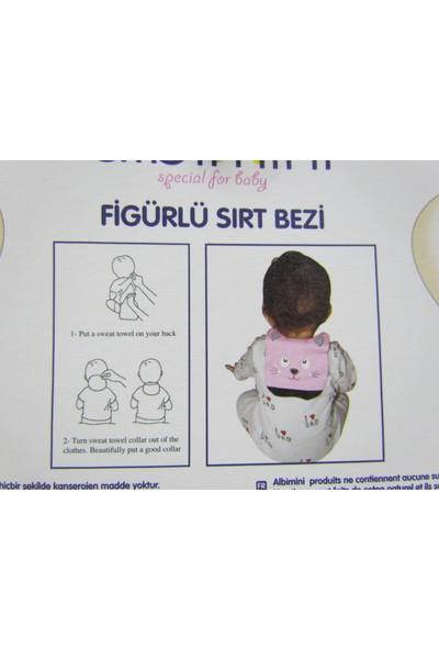 Runbaby Albimini Dinazor Figürlü %100 Pamuk Bebek Sırt Bezi (Pembe)