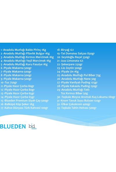 Blueden Ramazan Paketi Ramazan Kumanya Yardım Erzak Kolisi 33 Parça 9 Nolu Paket