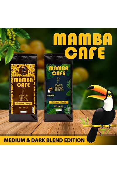 Mamba Cafe Medium ve Dark Blend 2X100 gr Deneme Paketi