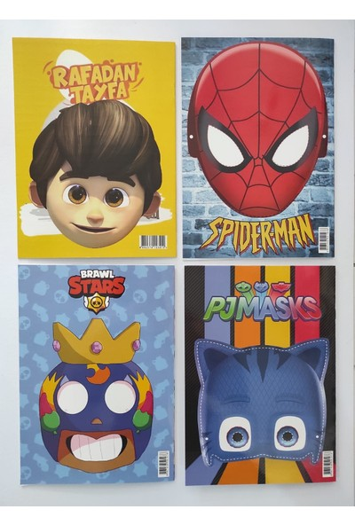 Asel Yayınları Boyama Kitabı Seti 4'lü (Erkek) Sticker ve Maskeli