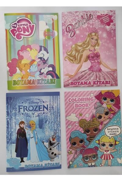 Asel Yayınları Boyama Kitabı Seti 4'lü (Kız) Sticker ve Maskeli