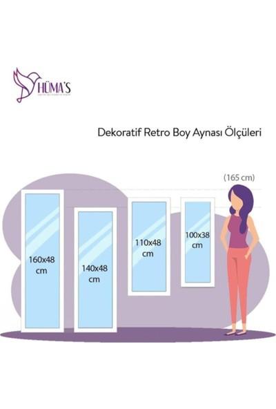 Hüma's Dekoratif Retro Boy Aynası 180 x 58 cm