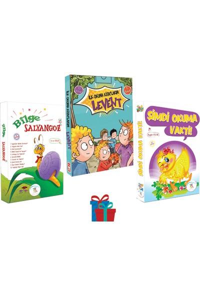 5 Renk Yayınevi 1. Sınıf Bilge Salyangoz-Şimdi Okuma Vakti Hikaye Seti-Timaş Levent Ilk Okuma Kitaplarım Hikaye Seti