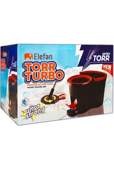 Elefan Torr Turbo Pedallı Paspas Seti - Vileda Seti - Pedallı Mop
