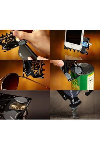 Diğer Acil Durum Kiti Ninja Wallet 18 In 1 Paslanmaz Çelik