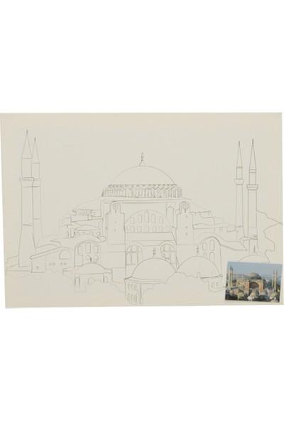 Ceo Art Desenli Anasoyfa Cami Tuval 35 x 50 cm