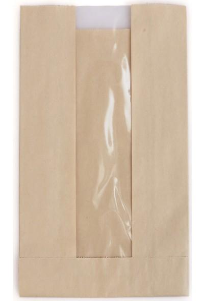Anadolu Kağıtçılık Pencereli Şamua 40 gr Kraft Kese Kağıdı Ithal 12 x 20 cm 10 kg 2500'LI