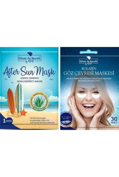 Rituel De Beaute Güneş Sonrası Nemlendirici Maske + Ritue De Beaute Kolajen Göz Maskesi