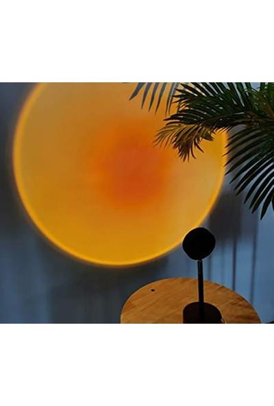 Generic Schulzz Gün Batımı Projektör Lambası Dekoratif Fotoğraf Çekim Rainbow Sunset Lamp(Yurt Dışından)