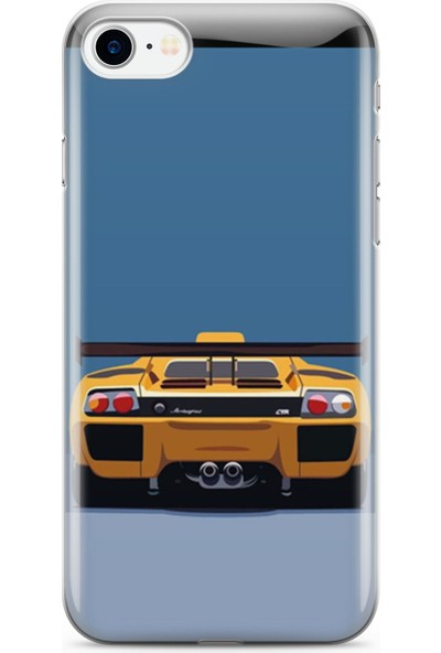 Melefoni Apple iPhone 8 Plus ile Uyumlu Cars Serisi Uv Baskılı Silikon Kılıf Nuyson x