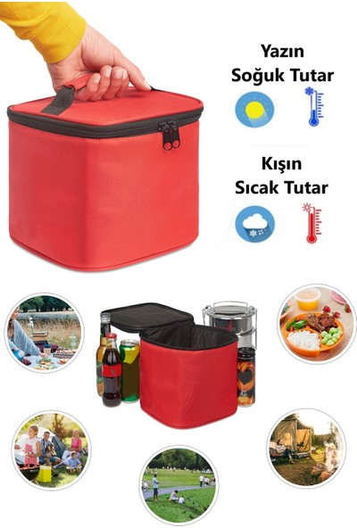 Ankaflex Termos Çanta Isı Yalıtımlı Termal Yemek Taşıma Çantası ve 2 Adet Buz Aküsü