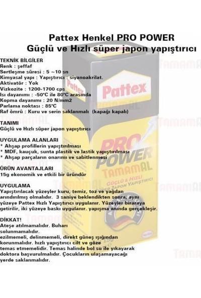 Pattex Süper-Güçlü-Hızlı Japon Yapıştırıcı