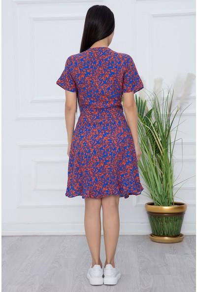 Kalopya Kadın Kuşaklı Kruvaze Elbise 2527