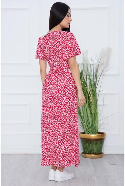 Kalopya Kadın Kolu Volanlı Düğmeli Elbise 2948