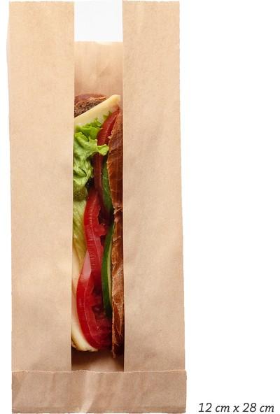 Anadolu Kağıtçılık Pencereli Şamua 40 G Kraft Kese Kağıdı 12 x 28 cm 10 kg 2250 Adet