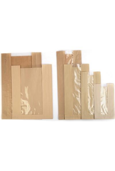 Anadolu Kağıtçılık Pencereli Şamua 40 G Kraft Kese Kağıdı 25 x 33 cm 10 kg 1000 Adet