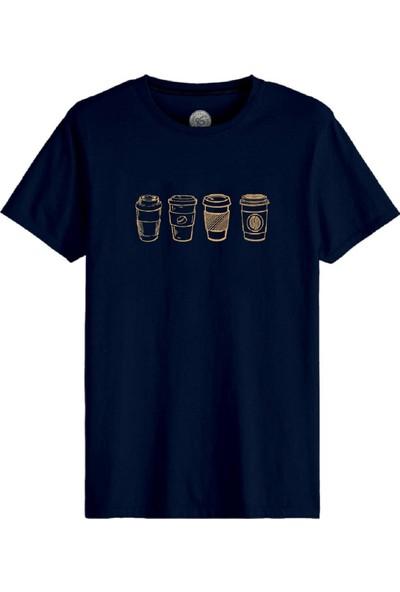 John Frank JFTEF33-COFFEE Erkek T-Shirt Lacivert