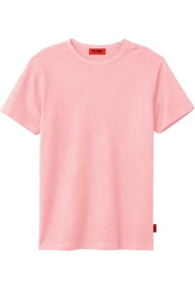 John Frank JFTPI01 Düz Erkek T-Shirt Pembe