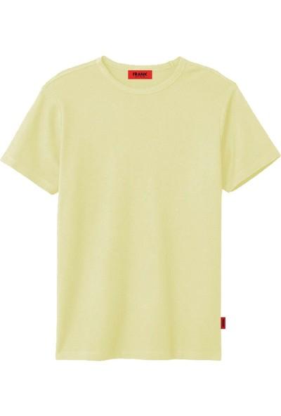 John Frank JFTPI01 Düz Erkek T-Shirt Sarı