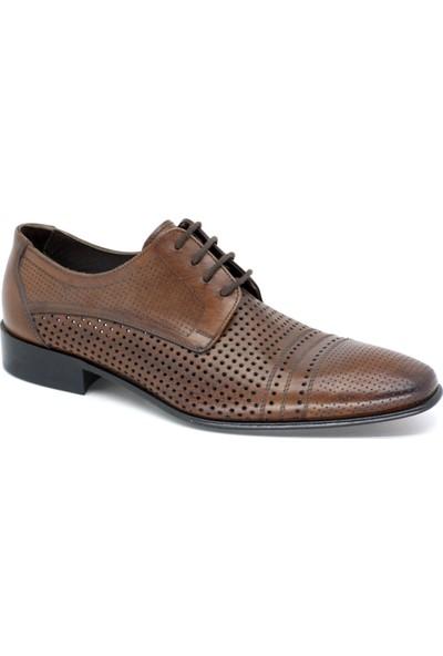 Oskar 869 Erkek Kösele Taban Hakiki Deri Lacivert-Rugan Klasık Ayakkabı