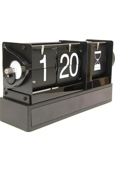 Huramarketing Saat Masa Üstü Flip Masa Saati Kum Saat Modeli Hediyelik