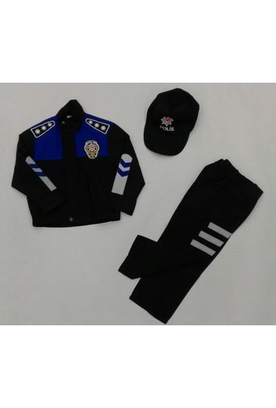 Uğur Böceği Çocuk Polis Kostümü Polis Kıyafeti Çocuk Kostüm