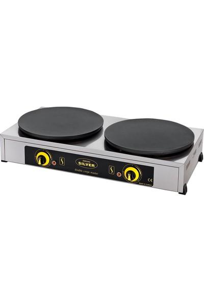 Silver-Işıkgaz Endüstriyel Elektrikli Çift Krep Pişirme Makinesi