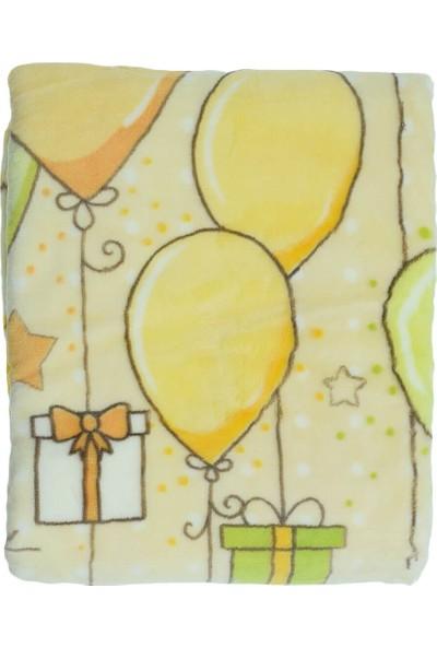 Recos Süpersoft Balon Desenli Bebek Battaniyesi