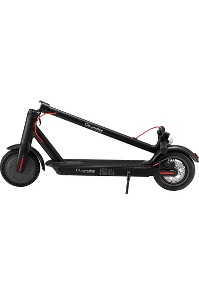 Citymate Plus 350WATT Elektrikli Scooter 8.5 Inch Şişme Teker Bluetooth Siyah